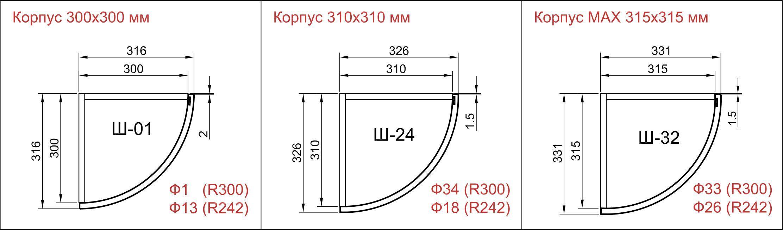 Карниз для кухонной мебели гнутый и прямой
