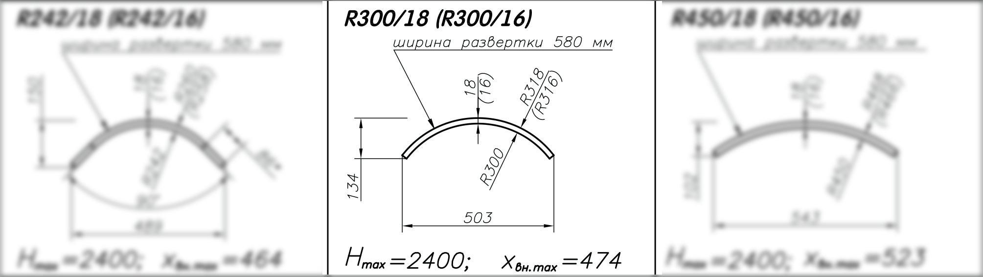Складская программа на гнутые панели R300