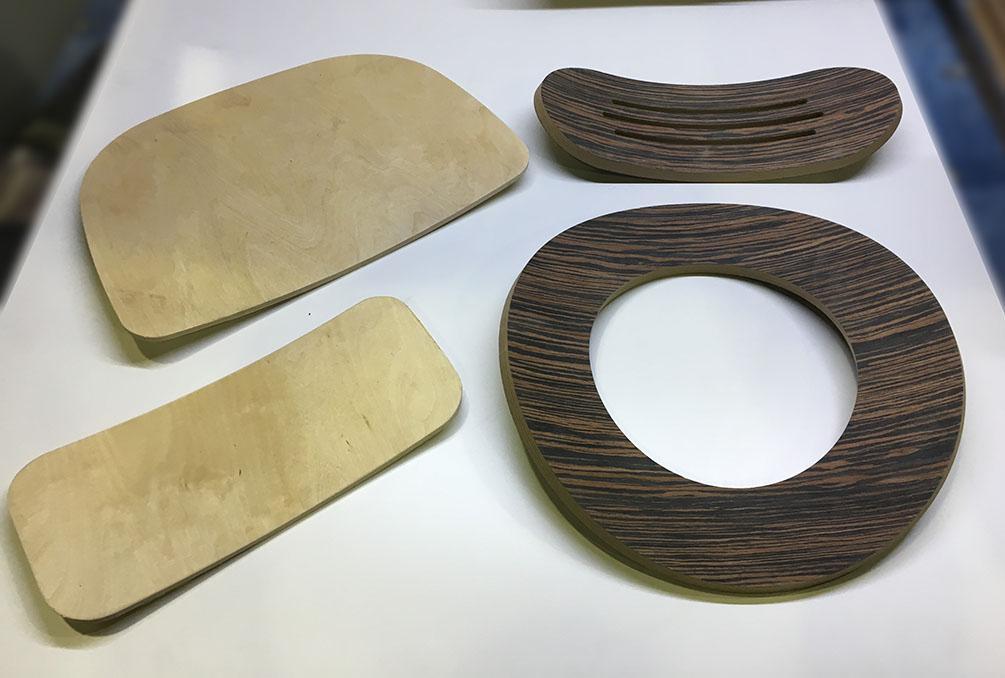 Изделия из гнутого шпона и МДФ