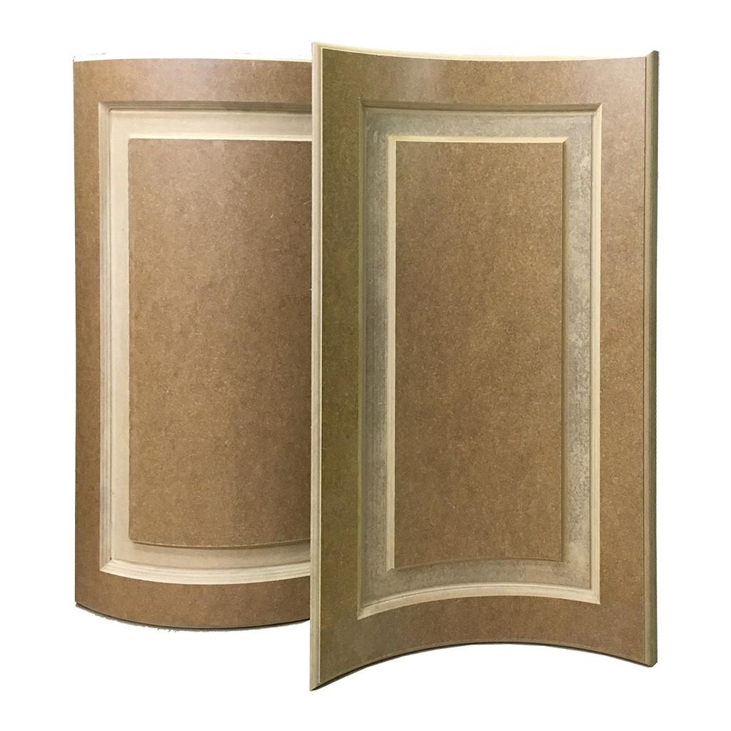 Радиусные детали из МДФ и шпона для мебели