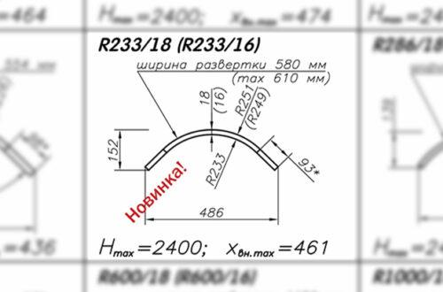 Радиусная панель R233