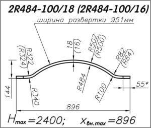 Радиусная панель 2R484-100