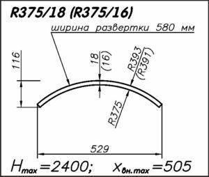Радиусная панель R375